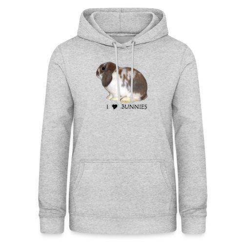 I Love Bunnies Luppis - Naisten huppari