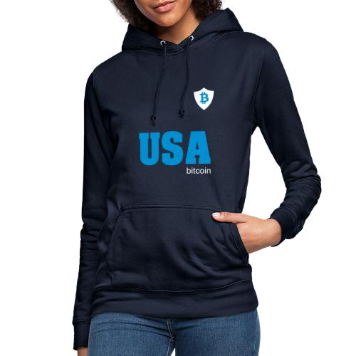 USA Bitcoin - Sudadera con capucha para mujer