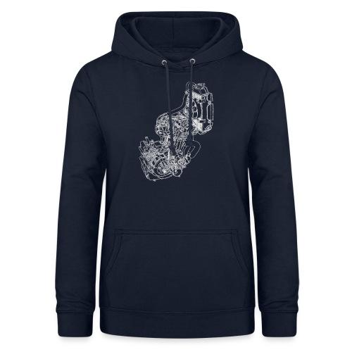 nx250 motorblok wit - Vrouwen hoodie