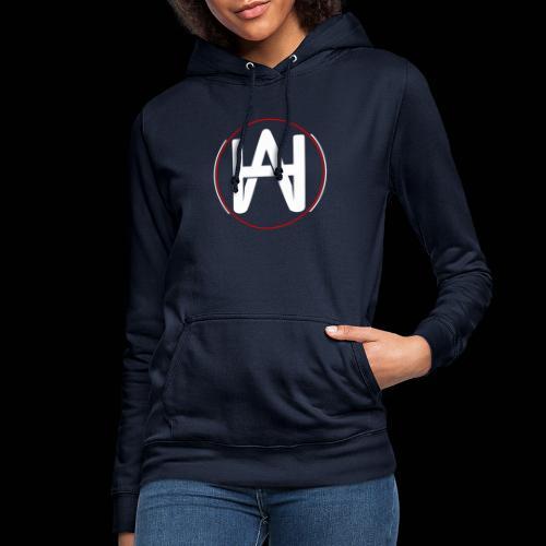 Hombre Alpha Logo en Blanco sobre Negro - Sudadera con capucha para mujer