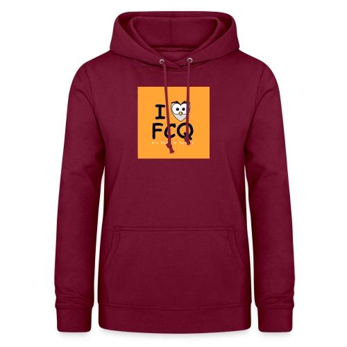 I Love FCQ button orange - Frauen Hoodie