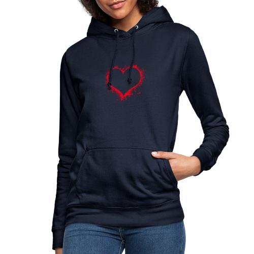 corazón pintura - Sudadera con capucha para mujer