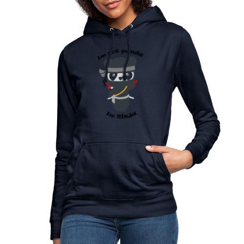 Non sono un Panda - Felpa con cappuccio da donna