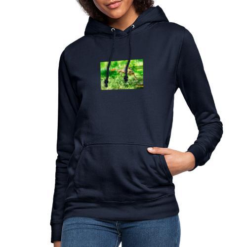 Żołw aportujący frisbee - Bluza damska z kapturem