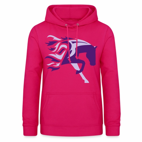 Horse Flame - Frauen Hoodie