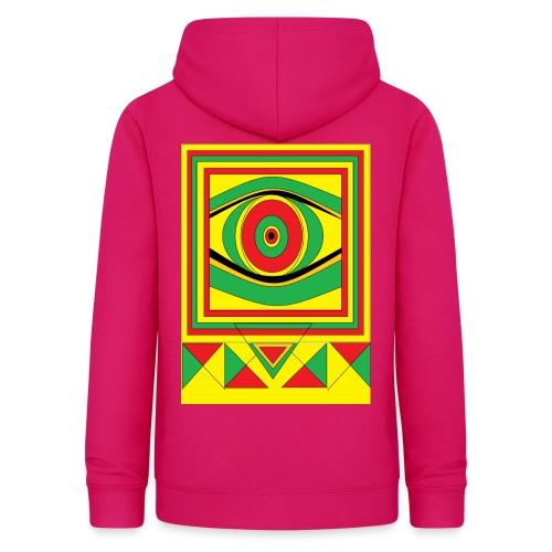 ALL seeing eye RASTA burn down babylon Original - Vrouwen hoodie
