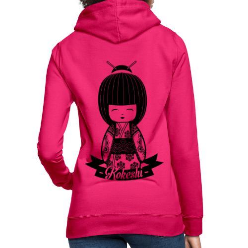 Kokeshi Black - Frauen Hoodie