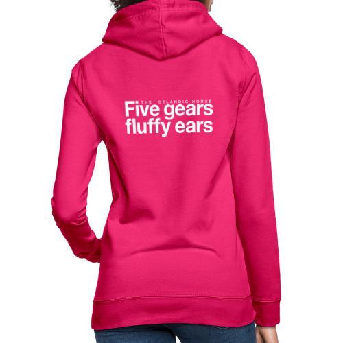 Five gears fluffy ears - Hettegenser for kvinner
