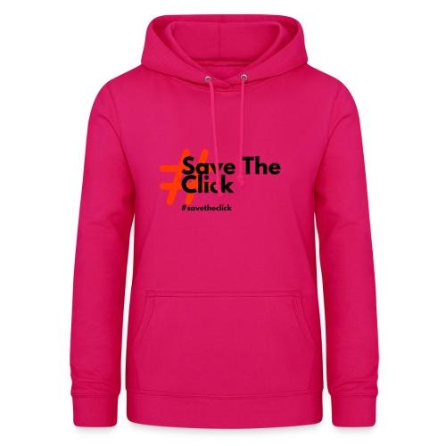 SAVE THE CLICK - Felpa con cappuccio da donna