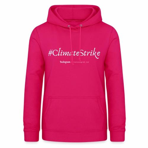 #ClimateStrike - Felpa con cappuccio da donna