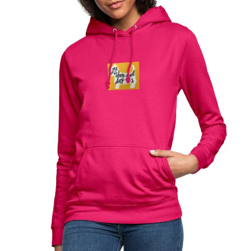 home is where your dog is - Sudadera con capucha para mujer