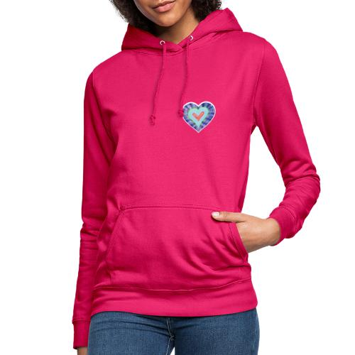 HeartSpread 18Little red heart in a green garden - Women's Hoodie
