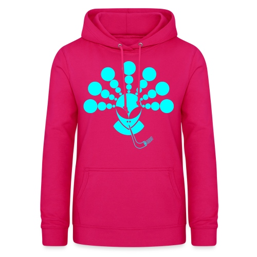 The Smoking Alien Light Blue - Women's Hoodie