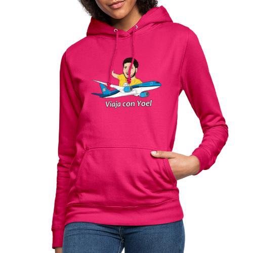 Frequent Flyer Yellow Viaja con Yoel - Sudadera con capucha para mujer