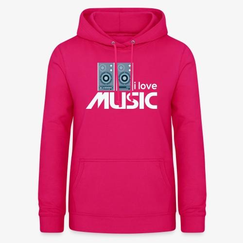 Amo la música 02 - Sudadera con capucha para mujer