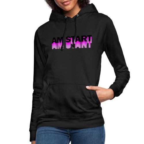am Start - pink schwarz faded - Frauen Hoodie