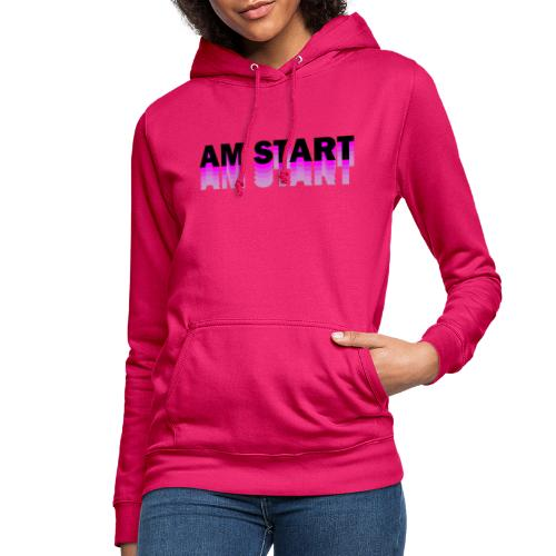 am Start - pink schwarz faded - Frauen Hoodie