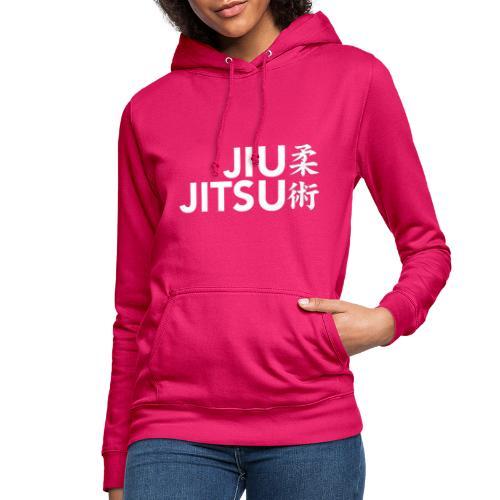 jiujitsu tekst met tekens wit - Vrouwen hoodie