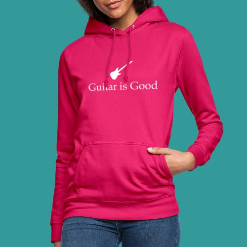 Guitar is Good Logo With Text - Women's Hoodie