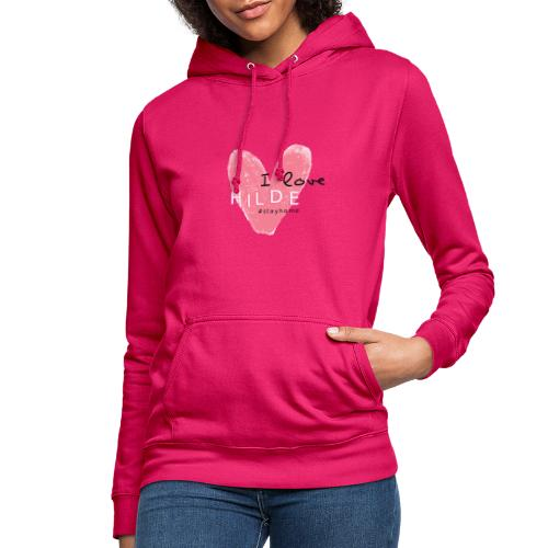 I Love Hilde Design - Frauen Hoodie