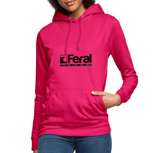 Feral Surf - Live the Life - Black - Women's Hoodie