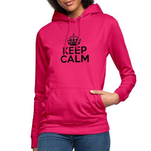 Keep calm - Felpa con cappuccio da donna