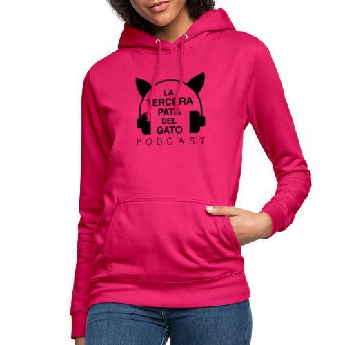 black - Sudadera con capucha para mujer