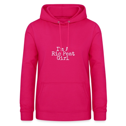 Ric Peat Girl (White Text) - Women's Hoodie