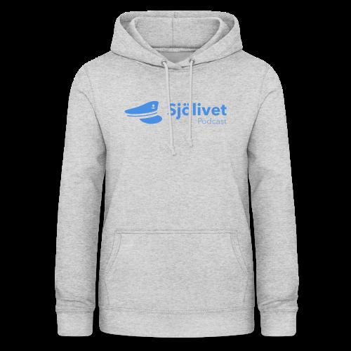 Sjölivet podcast - Svart logotyp - Luvtröja dam