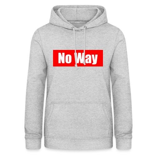 no way logo - Sweat à capuche Femme