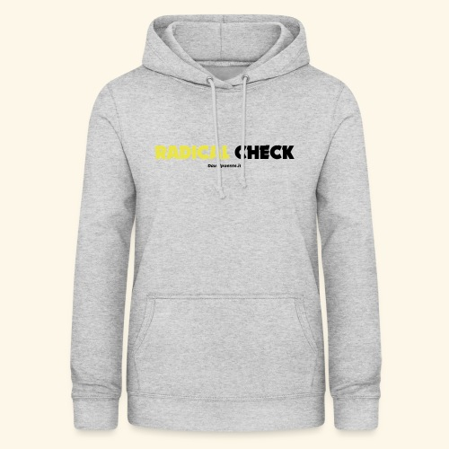 Radical Check - Felpa con cappuccio da donna