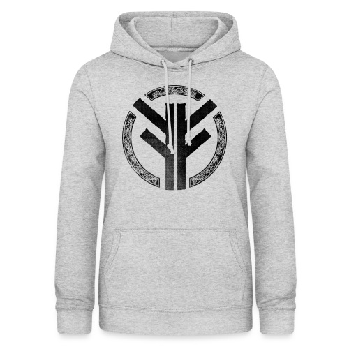 Forefather symbol black - Women's Hoodie
