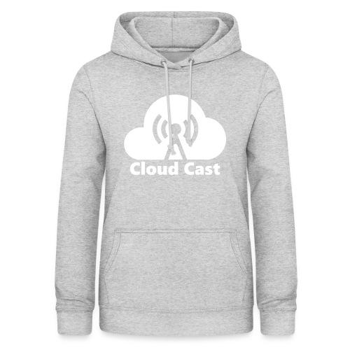 Cloud Cast White mit Schriftzug - Frauen Hoodie