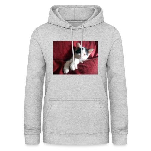 Katze in rot - Frauen Hoodie