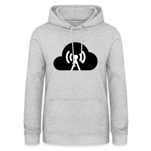 Cloud Cast Wolke schwarz mit Schriftzug - Frauen Hoodie