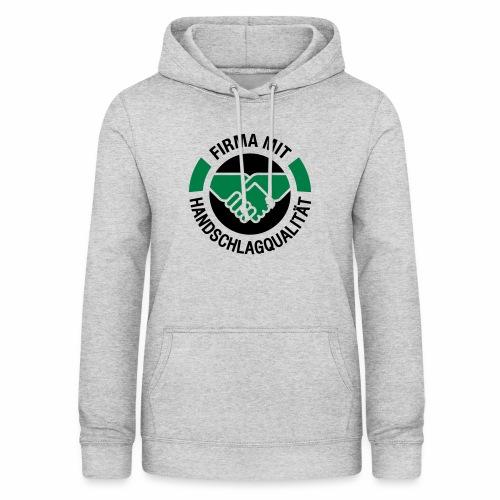 Handschlagqualität Logo schwarz - Frauen Hoodie
