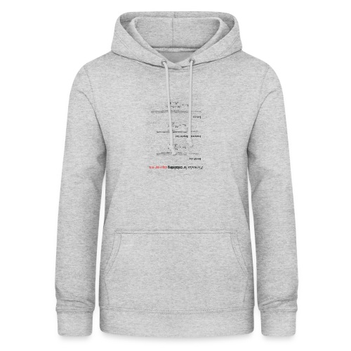 Formulas for calculating steps-per-mm (upturned). - Women's Hoodie