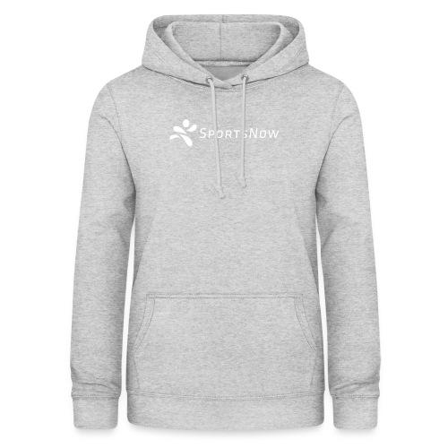 SportsNow-Logo Weiss - Frauen Hoodie