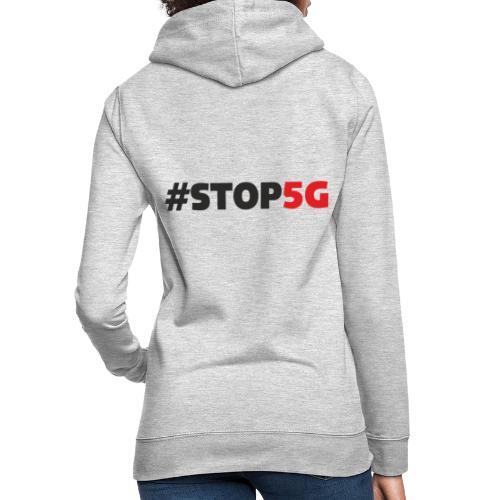 Stop5G linea logo - Felpa con cappuccio da donna
