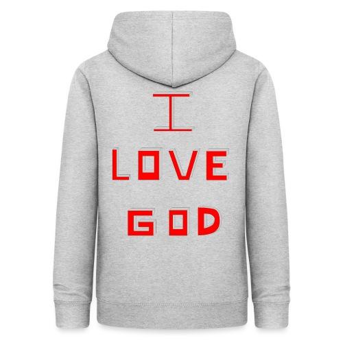 I LOVE GOD - Sudadera con capucha para mujer