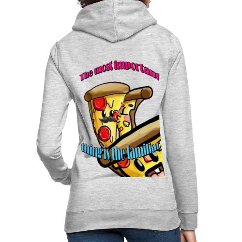 the most important thing is the familiar - Sudadera con capucha para mujer