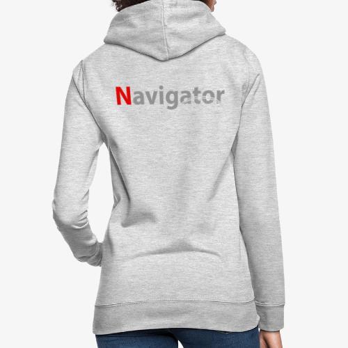 Navigator grijs/rood merchandise - Vrouwen hoodie