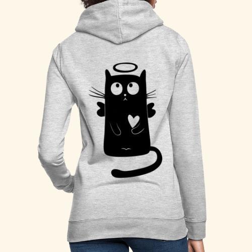 Gato angelical - Sudadera con capucha para mujer