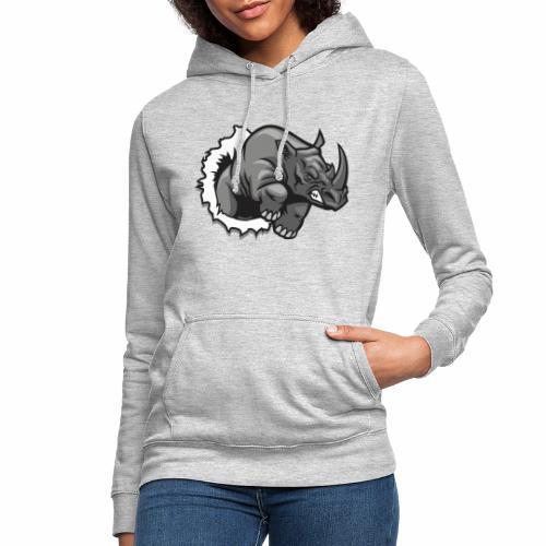 Méchant rhinocéros - Sweat à capuche Femme