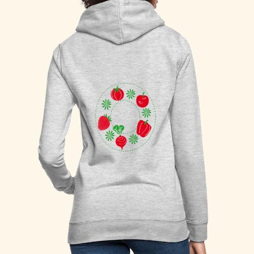 Frutos rojos del huerto - Sudadera con capucha para mujer