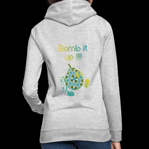 Bomb It Up : Yellow Power !!! - Sweat à capuche Femme