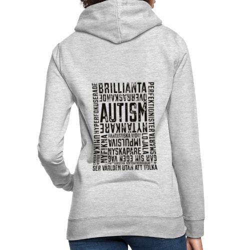 Autism - ser världen utan att tolka - Luvtröja dam