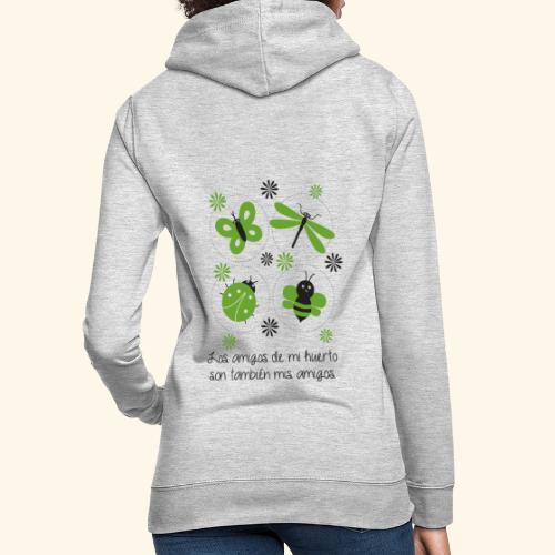 Amigos del huerto y el jardín - Sudadera con capucha para mujer