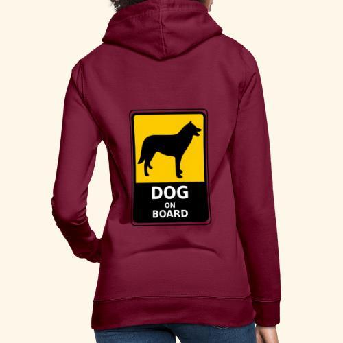 cartel perro - Sudadera con capucha para mujer