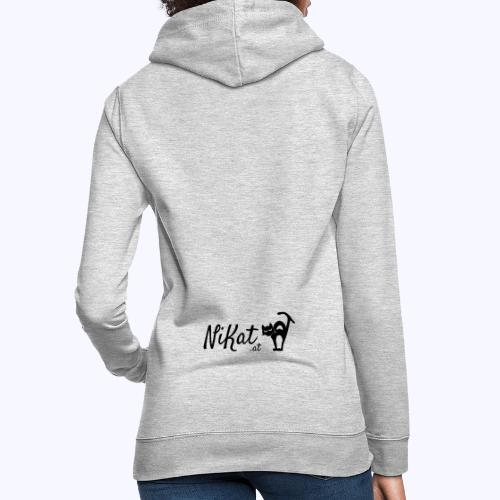 Nikat logo schwarz - Frauen Hoodie